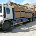Lorry loaded & ready for off.