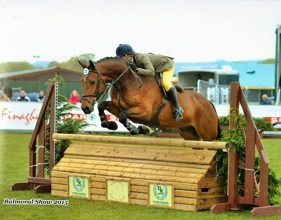 """Redwood Thor"" jumping our fence @ Balmoral 2015 ridden by Emma Jackson"